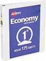 Deals List: Avery 5760 Economy View Binder with 1 Inch Round Ring, White, 1 Binder