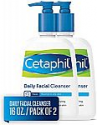Deals List: Cetaphil Facial Cleanser, Daily Face Wash for Normal to Oily Skin, 16Oz (Pack of 2)