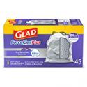 Deals List: 3 x Glad ForceFlexPlus Tall Kitchen Drawstring Trash Bags, Lavender, 13 Gal, 45 Ct