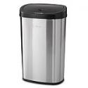 Deals List: Mainstays Black Stainless Steel Motion Sensor Trash Can, 13.2 Gal