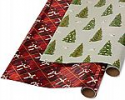 Deals List: Papyrus Holiday Foil Wrapping Paper, Red Argyle, Pine Trees and Doves (2 Pack)