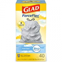 Deals List: Glad ForceFlex Tall Kitchen Drawstring Trash Bags, Fresh Clean, 13 Gal, 40 Ct