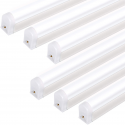Deals List: 6-pack of the Hykolity T5 4 ft. 22W 2200lm Integrated Single LED Light Tube Fixtures Linkable LED Shop Lights (Upgraded 6500K, super Bright White)