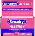 Deals List: Benadryl Ultratabs Antihistamine Allergy Relief Tablets, Diphenhydramine HCl 25mg, 100 ct