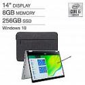 "Deals List: Acer Spin 3 14"" FHD Laptop (i5-1035G1, 8GB, 256GB SP314-54N-58Q7) + Stylus & Sleeve"