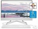 Deals List: HP 24-inch All-in-One Touchscreen Desktop Computer, AMD Athlon Silver 3050U Processor, 4 GB RAM, 256 GB SSD, Windows 10 Home (24-df0030, White)