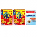 Deals List: RITZ Crackers & Premium Saltine Crackers Variety Pack, Family Size, 3 Boxes