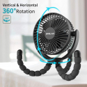 Deals List: OPOLAR 2020New 5000mAh Rechargeable Battery Powered Clip Fan with Flexible Tripod, Quieter&Stronger Wind, Personal Portable USB Desk Fan for Golf Cart Stroller Car or Outdoor Camping Tent Beach