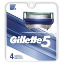 Deals List: Gillette 5 Men's Razor Blade Refills, 4 Count