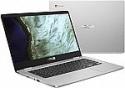 "Deals List: ASUS - 14.0"" Chromebook - Intel Celeron N3350 - 4GB Memory - 32GB eMMC - Grey"