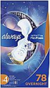 Deals List: Always Infinity Feminine Pads for Women, Size 4, 78 Count, Overnight Absorbency, with Wings, Unscented (26 Count, Pack of 3 - 78 Count Total)