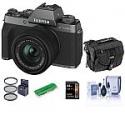 Deals List: Fujifilm X-T200 with FUJ XC 15-45MM F/3.5-5.6 Lens, Dark Silver W/Free Acc Kit