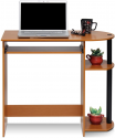 Deals List: Furinno Simplistic Easy Assembly Computer Desk, With Keyboard Tray, Light Cherry/Black