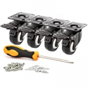 Deals List: 4-Pack Decolighting 2-inch Swivel Caster Wheels