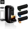 Deals List: Nespresso VertuoPlus Coffee and Espresso Maker by Breville, Ink Black with BEST SELLING COFFEES INCLUDED