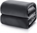 Deals List: Bedsure Fleece Blanket Twin Size Dark Grey Lightweight Blanket Super Soft Cozy Microfiber Blanket