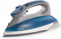 Deals List: Maytag Digital Smart Fill Steam Iron & Vertical Steamer with Pearl Ceramic Sole Plate, Removable Water Tank + Thermostat Dial, Grey/Blue