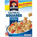Deals List: Quaker Oatmeal Squares, Brown Sugar, Crunchy Oat Breakfast Cereal, 14.5oz Box