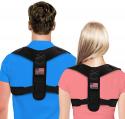 Deals List: Posture Corrector For Men And Women - Adjustable Upper Back Brace For Clavicle To Support Neck, Back and Shoulder (Universal Fit, U.S. Design Patent)