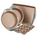 Deals List: Rachael Ray Cucina 4-Pc. Agave Blue Nonstick Bakeware Set