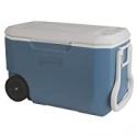 Deals List: Coleman 62-Quart Xtreme 5-Day Heavy-Duty Cooler with Wheels, Blue/White