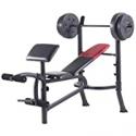 Deals List: Weider Pro 265 Standard Bench Bar and Weight Set 80LB