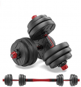 Deals List: shanchar Adjustable Weights Dumbbells Set,Free Weights Dumbbells Set for Men and Women with Connecting Rod Can Be Used As Barbell for Home Gym Work Out Training, 44BLS