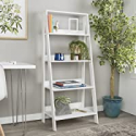 Deals List: Walker Edison 4 Shelf Simple Modern Wood Ladder Bookshelf