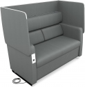 Deals List: OFM Core Collection Morph Series Soft Seating Sofa with Easy Flip Privacy Panel (Slate)