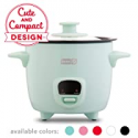 Deals List: Dash DRCM200GBAQ04 Mini Rice Cooker Steamer with Removable Nonstick Pot, Keep Warm Function & Recipe Guide, Aqua