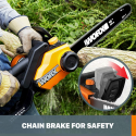 Deals List: Worx WG303.1, 14.5 Amp 16-inch Corded Electric Chainsaw with Auto-Tension, Chain Brake