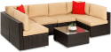 Deals List: Best Choice Products 7-Piece Modular Outdoor Patio Furniture Set