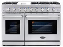 Deals List: NXR Stainless Steel 48-in Gas Range with LED MM4811