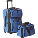 Deals List: U.S. Traveler Rio Rugged Fabric Expandable Carry-On Luggage Set, Royal Blue, 2-Piece