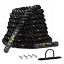 Deals List: KingSo 30ft 1.5 Inch Heavy Battle Exercise Training Rope