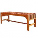 Deals List: VIFAH Malibu 59-in W x 18-in L Natural Wood Traditional Bench