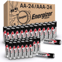 Deals List: Energizer MAX AA Batteries & AAA Batteries Combo Pack, 24 AA and 24 AAA (48 Count)