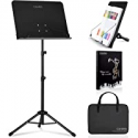 Deals List: CAHAYA 2 in 1 Dual-use Sheet Music Stand w/Carrying Bag