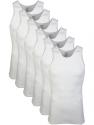 Deals List:  6-Pack of Gildan Men's 100% Cotton A-Shirts Tank Tops (White Multipack)