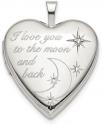 Deals List: Sterling Silver I Love You Heart Locket