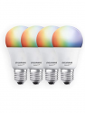 Deals List: SYLVANIA Smart+ Wi-Fi Full Color Dimmable A19 LED Light Bulb, CRI 90+, 60W Equivalent, Works with Alexa and Google Assistant, 4 Pack