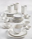 Deals List:  42-Piece Tabletops Unlimited Whiteware Dinnerware Set (Service for 6)