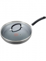 Deals List: T-fal Dishwasher Safe Cookware Fry Pan with Lid Hard Anodized Titanium Nonstick, 12-Inch, Black
