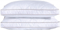 Deals List: puredown Natural Goose Down Feather White Pillow Inserts, 100% Egyptian Cotton Fabric Cover Bed Pillows, Set of 2 Standard Size