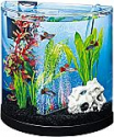 Deals List: Tetra ColorFusion Starter aquarium Kit 3 Gallons, Half-Moon Shape, With Bubbler And Color-Changing Light Disc