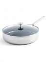 "Deals List: Blue Diamond Triple Steel Diamond-Infused Ceramic Nonstick, Frying Pan Set, 9.5"" and 11"", Silver"