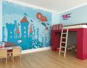 "Deals List: OhPopsi 9' 10"" x 7' 10"" Mermaid Castle Kids' Wall Mural (WALS0378)"