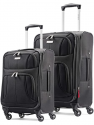 Deals List: Samsonite Omni PC Hardside Expandable Luggage with Spinner Wheels, Black, 2-Piece Set (20/24)