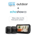 Deals List: Echo Show 5 (Charcoal) with All-new Blink Outdoor- 2 camera kit