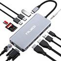 Deals List: Falwedi Triple Display 12 in 1 USB C Hub with 2 HDMI & VGA